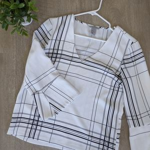 Black and White Pinstripe Blouse